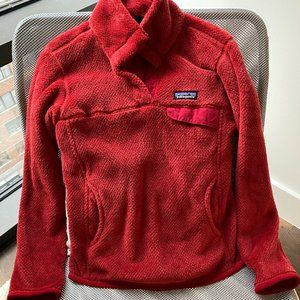Red Patagonia fleece jacket